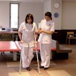 松葉杖の使用方法の指導