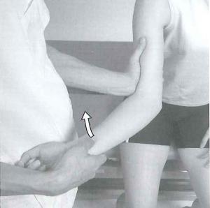 卒前研修 肘関節部のテーピング
