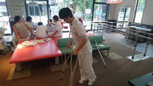 卒前研修・臨床実習 松葉杖使用法